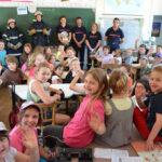 Navilly : pompiers et enfants